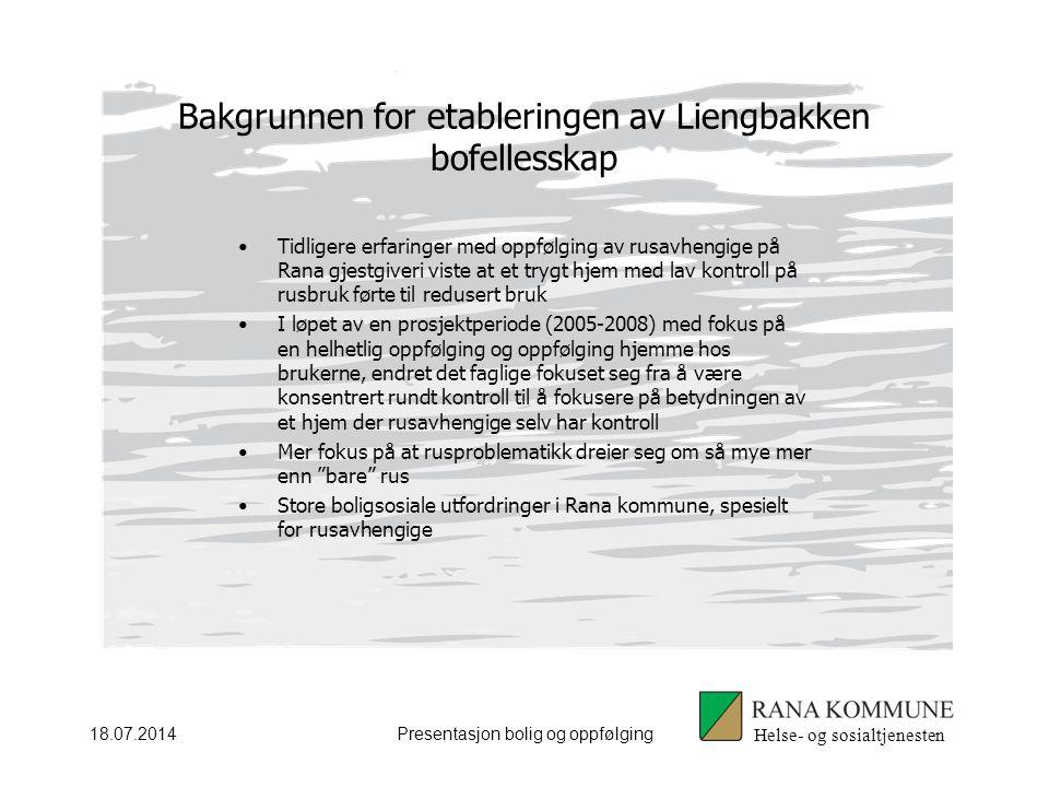 Bakgrunnen for etableringen av Liengbakken bofellesskap