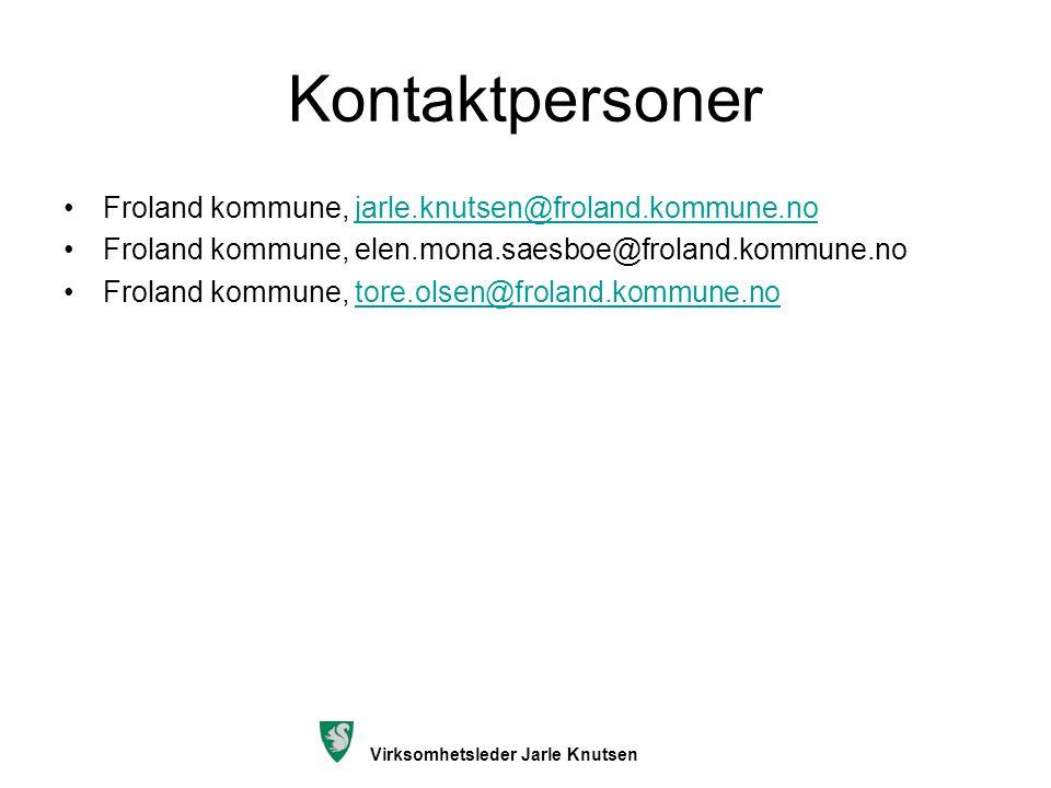 Kontaktpersoner Froland kommune, jarle.knutsen@froland.kommune.no