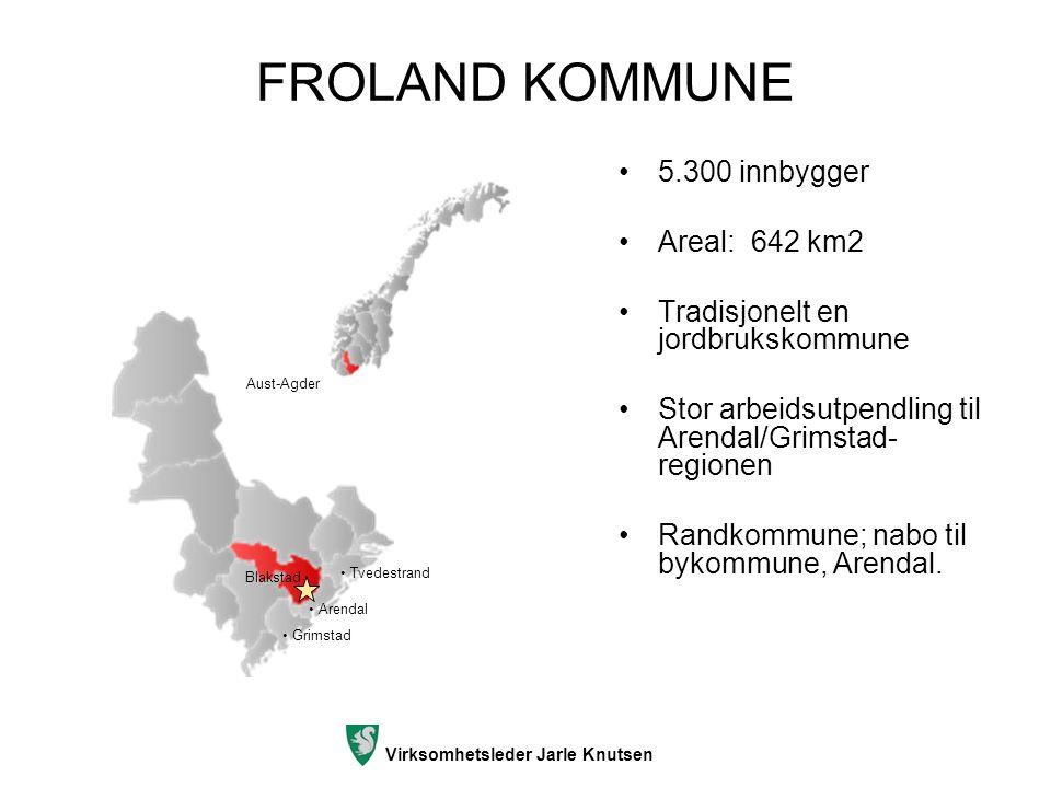FROLAND KOMMUNE 5.300 innbygger Areal: 642 km2