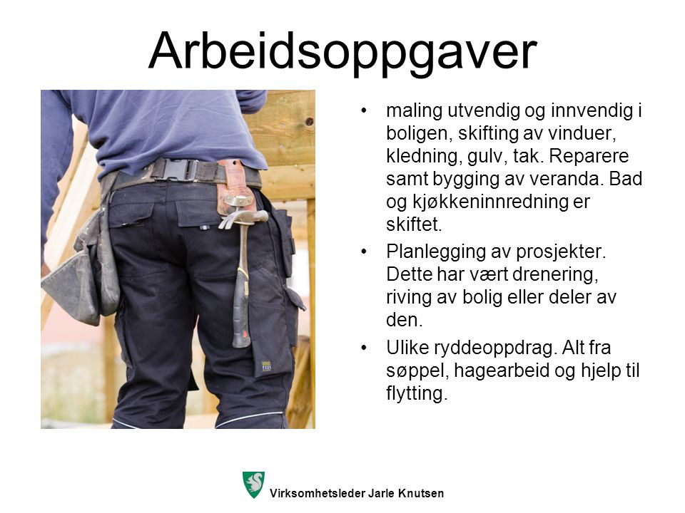 Virksomhetsleder Jarle Knutsen