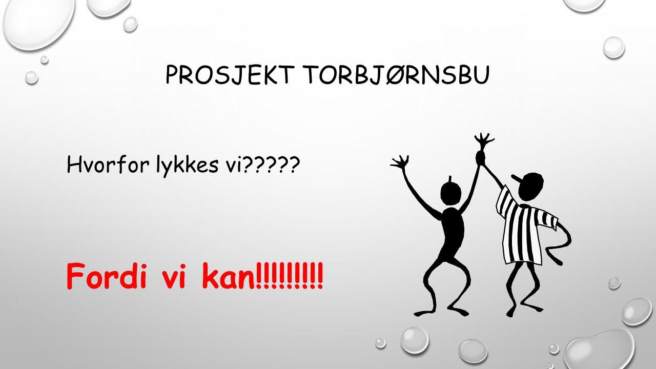 Prosjekt torbjørnsbu Hvorfor lykkes vi Fordi vi kan!!!!!!!!!