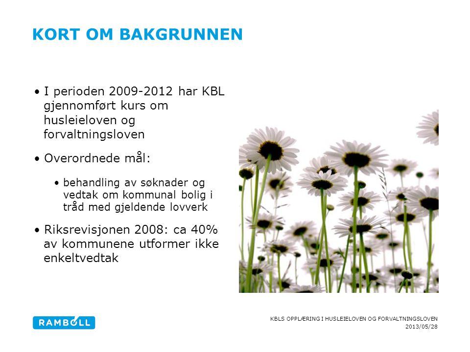 kort om bakgrunnen I perioden 2009-2012 har KBL gjennomført kurs om husleieloven og forvaltningsloven.