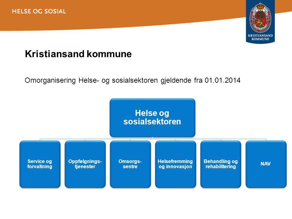 Kristiansand kommune Helse og sosialsektoren