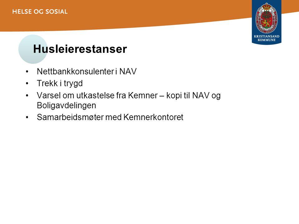 Husleierestanser Nettbankkonsulenter i NAV Trekk i trygd