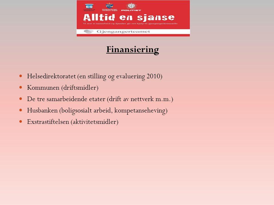 Finansiering Helsedirektoratet (en stilling og evaluering 2010)