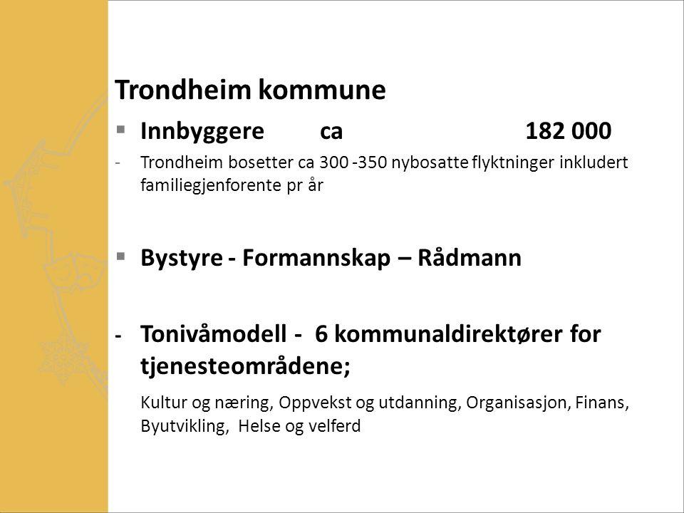 Trondheim kommune Innbyggere ca 182 000