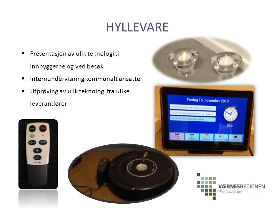 HYLLEVARE Presentasjon av ulik teknologi til innbyggerne og ved besøk
