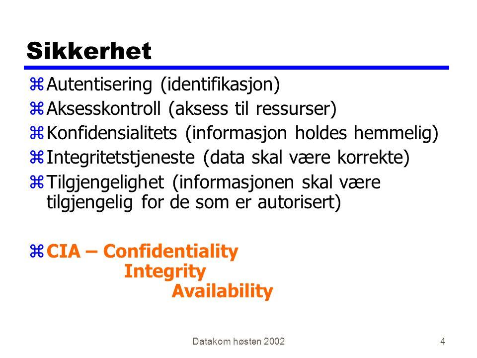Sikkerhet Autentisering (identifikasjon)