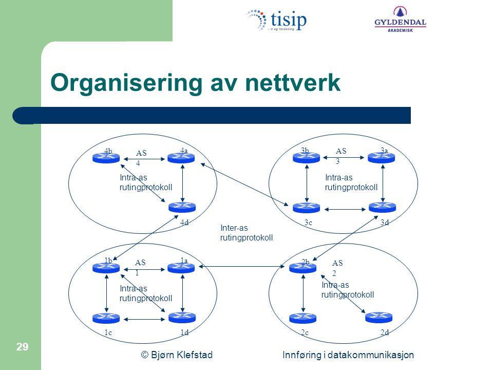 Organisering av nettverk