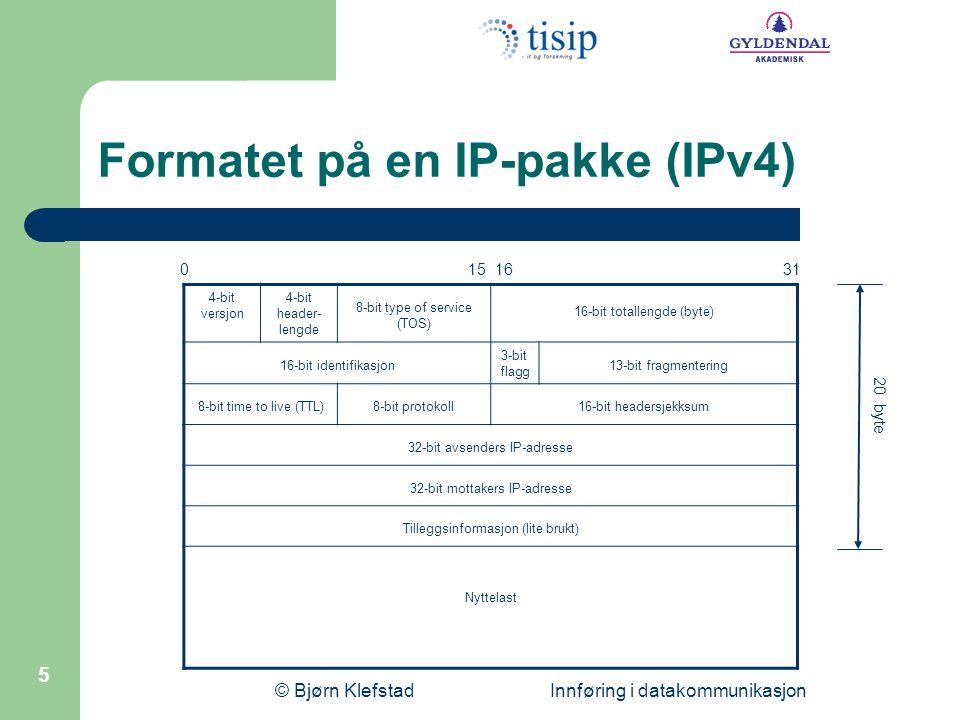 Formatet på en IP-pakke (IPv4)