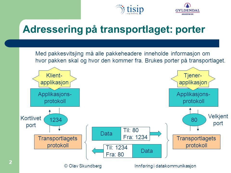 Adressering på transportlaget: porter