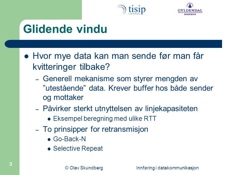 © Olav Skundberg Innføring i datakommunikasjon