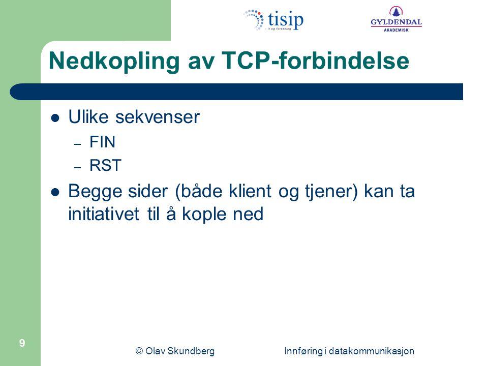 Nedkopling av TCP-forbindelse