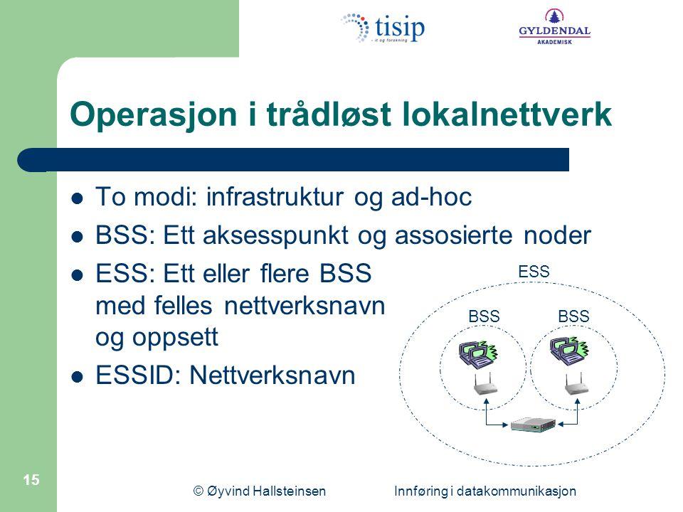 Operasjon i trådløst lokalnettverk