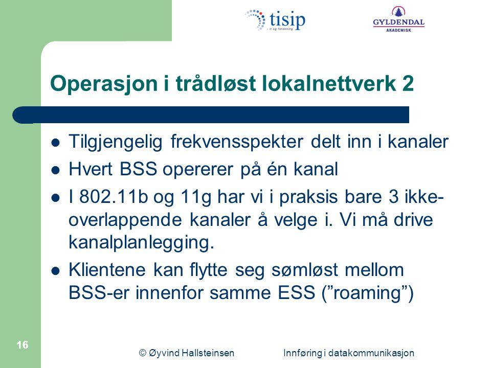 Operasjon i trådløst lokalnettverk 2