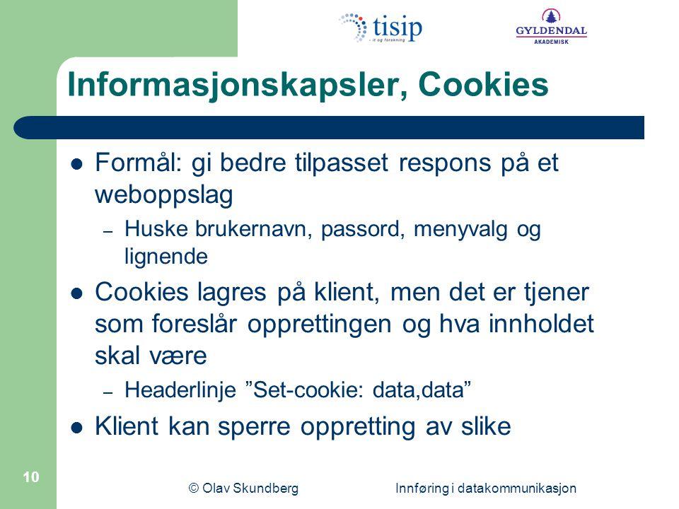 Informasjonskapsler, Cookies