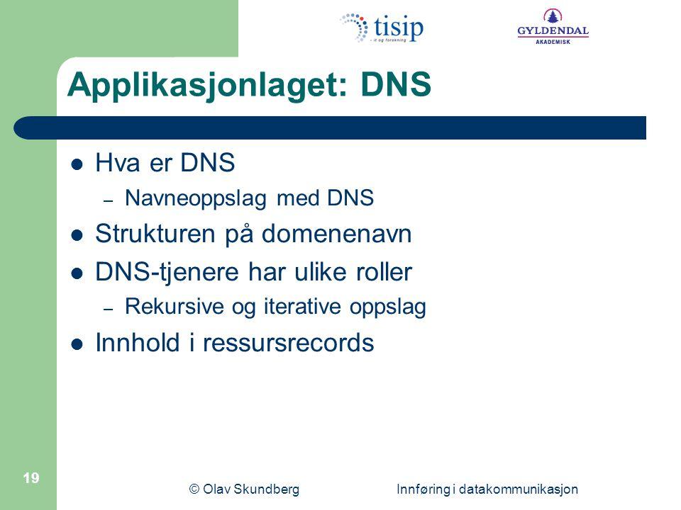 Applikasjonlaget: DNS
