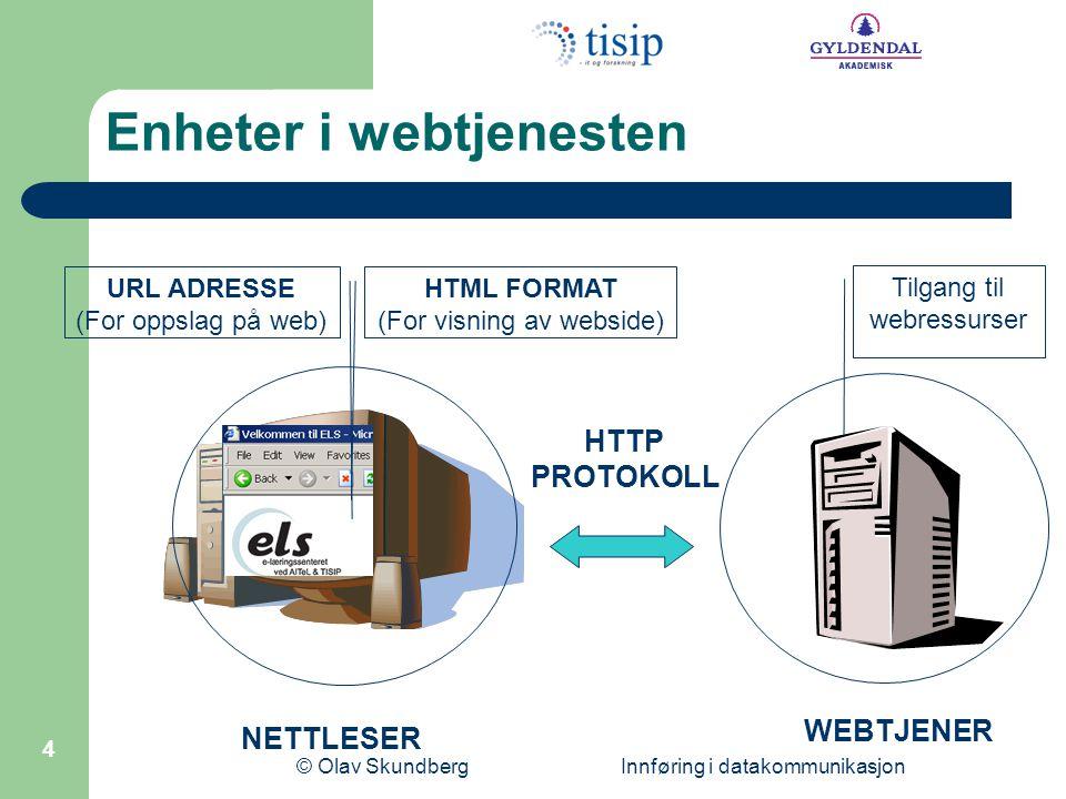 Enheter i webtjenesten