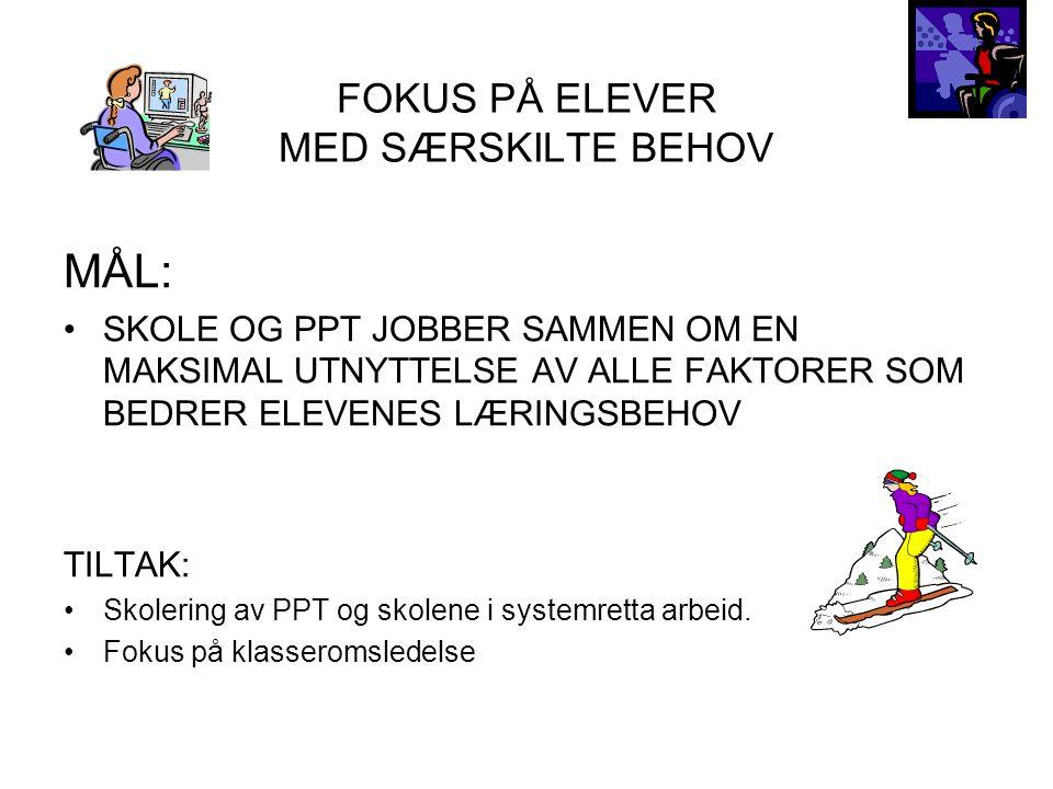 FOKUS PÅ ELEVER MED SÆRSKILTE BEHOV