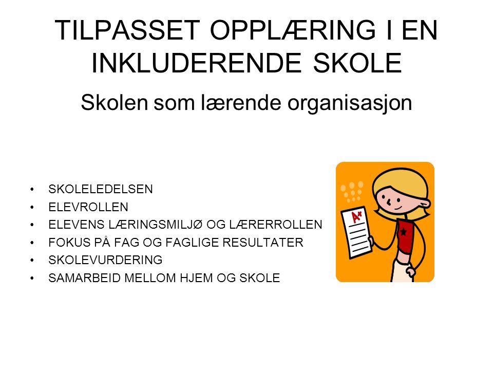 TILPASSET OPPLÆRING I EN INKLUDERENDE SKOLE
