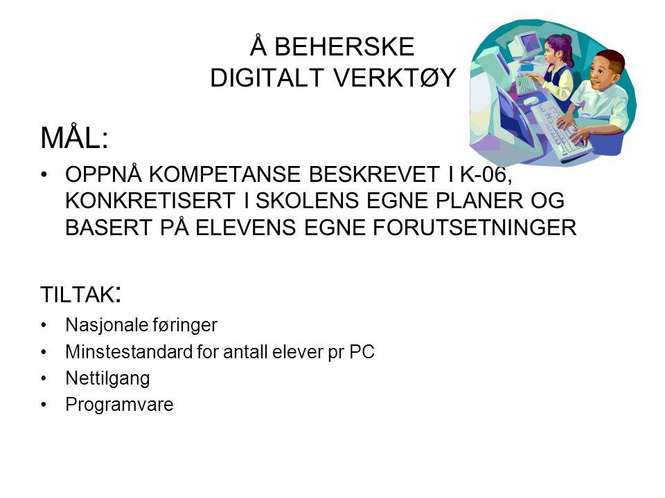 Å BEHERSKE DIGITALT VERKTØY