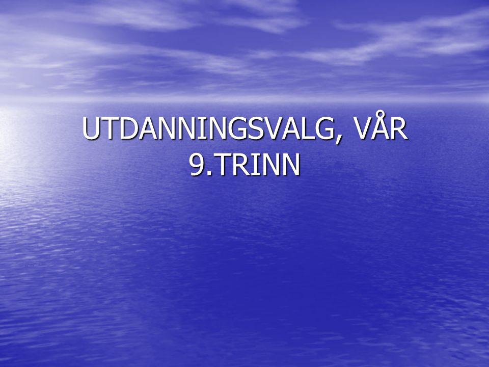 UTDANNINGSVALG, VÅR 9.TRINN