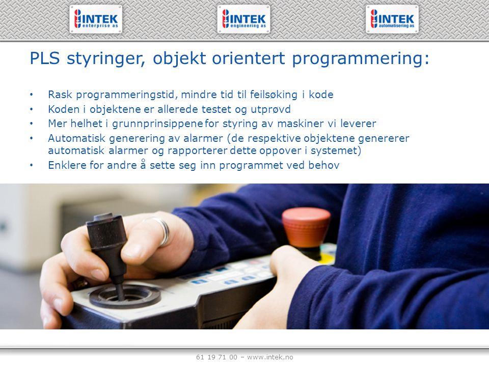 PLS styringer, objekt orientert programmering: