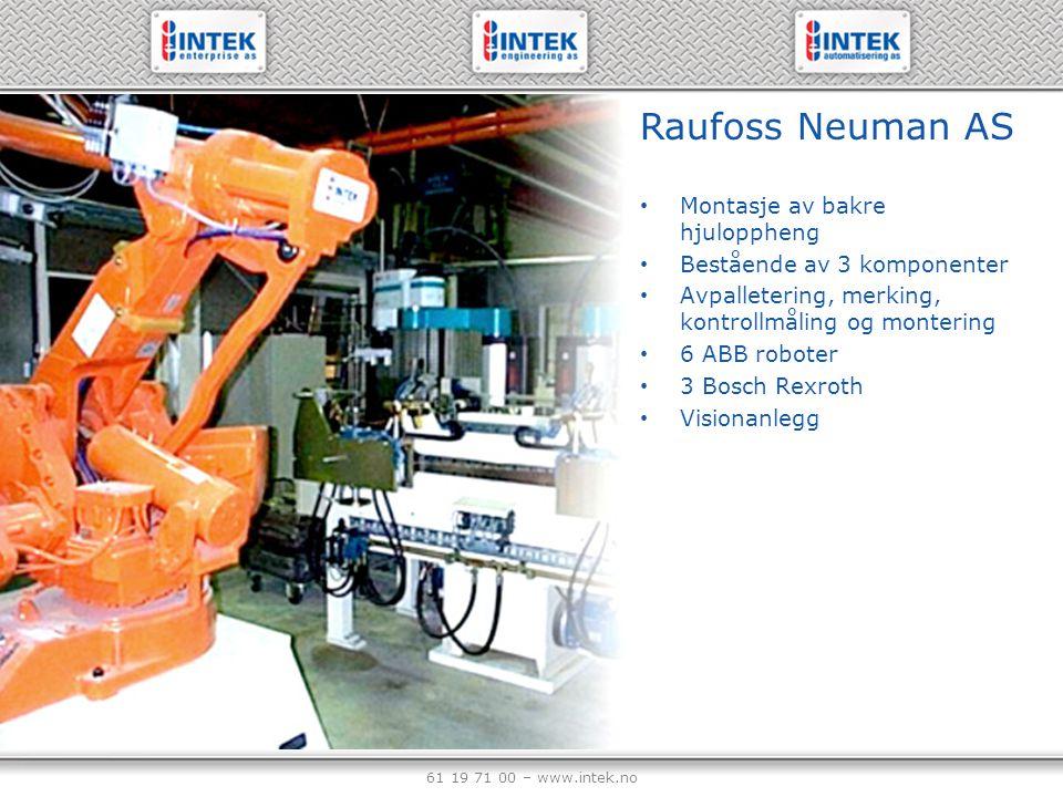 Raufoss Neuman AS Montasje av bakre hjuloppheng