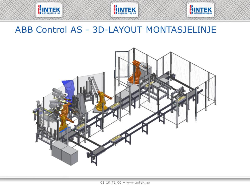 ABB Control AS - 3D-LAYOUT MONTASJELINJE