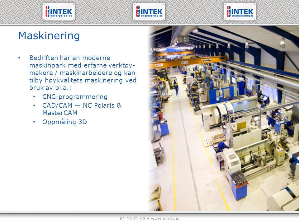 Maskinering Bedriften har en moderne maskinpark med erfarne verktøy-makere / maskinarbeidere og kan tilby høykvalitets maskinering ved bruk av bl.a.: