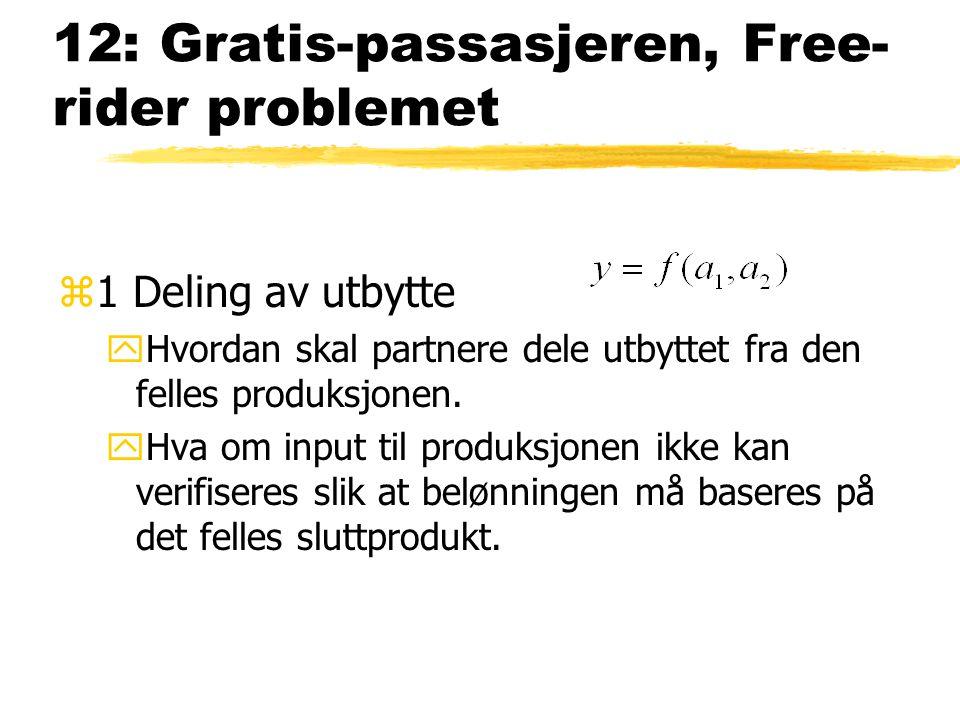 12: Gratis-passasjeren, Freerider problemet