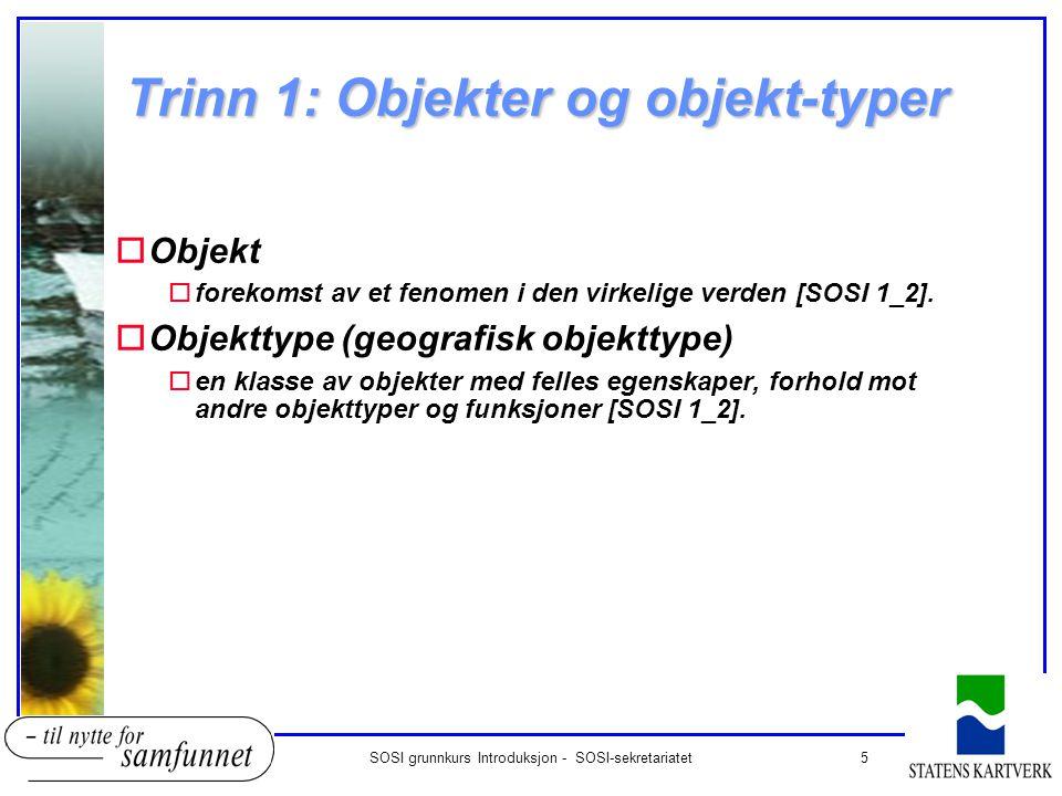 Trinn 1: Objekter og objekt-typer