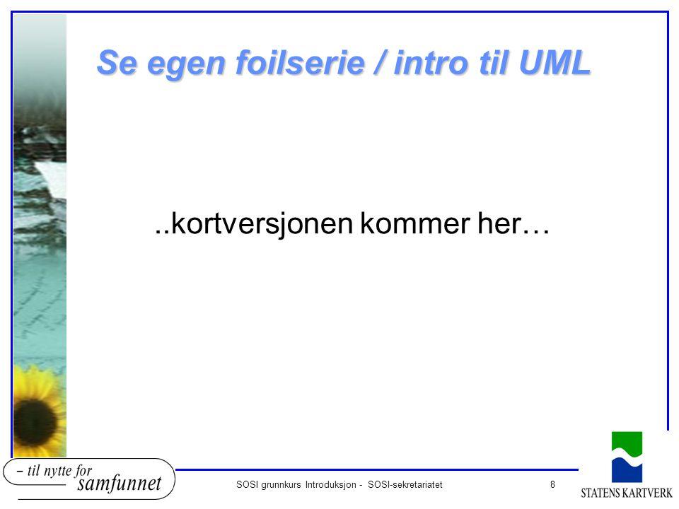 Se egen foilserie / intro til UML