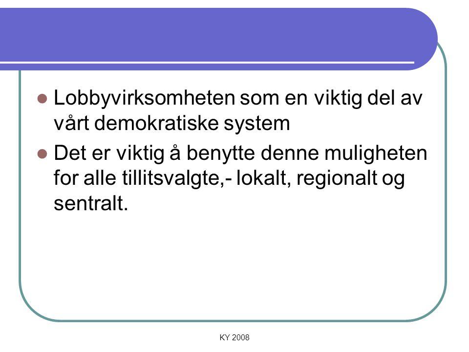 Lobbyvirksomheten som en viktig del av vårt demokratiske system
