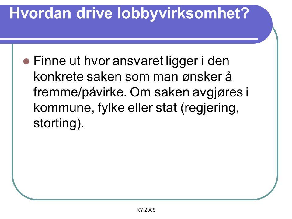 Hvordan drive lobbyvirksomhet