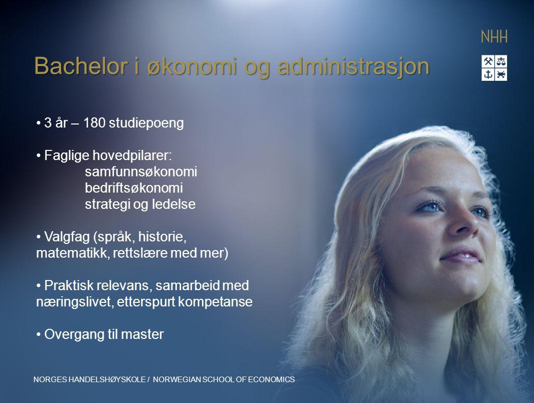 Bachelor i økonomi og administrasjon