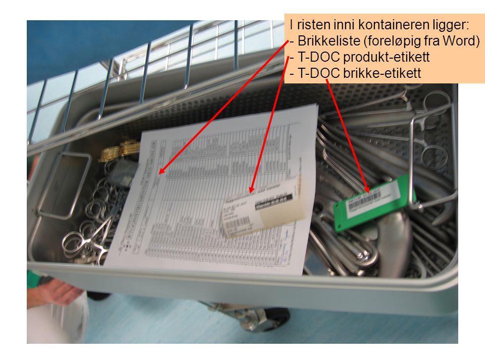 I risten inni kontaineren ligger: