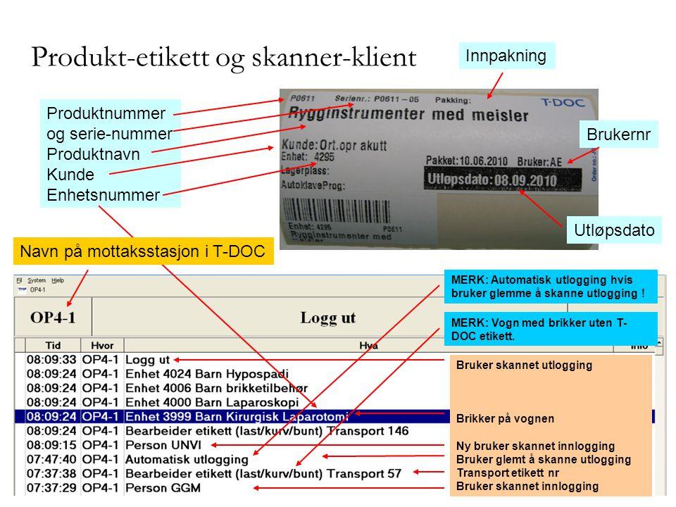 Produkt-etikett og skanner-klient