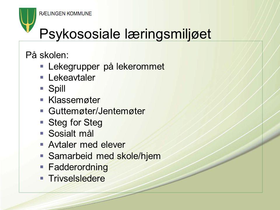 Psykososiale læringsmiljøet
