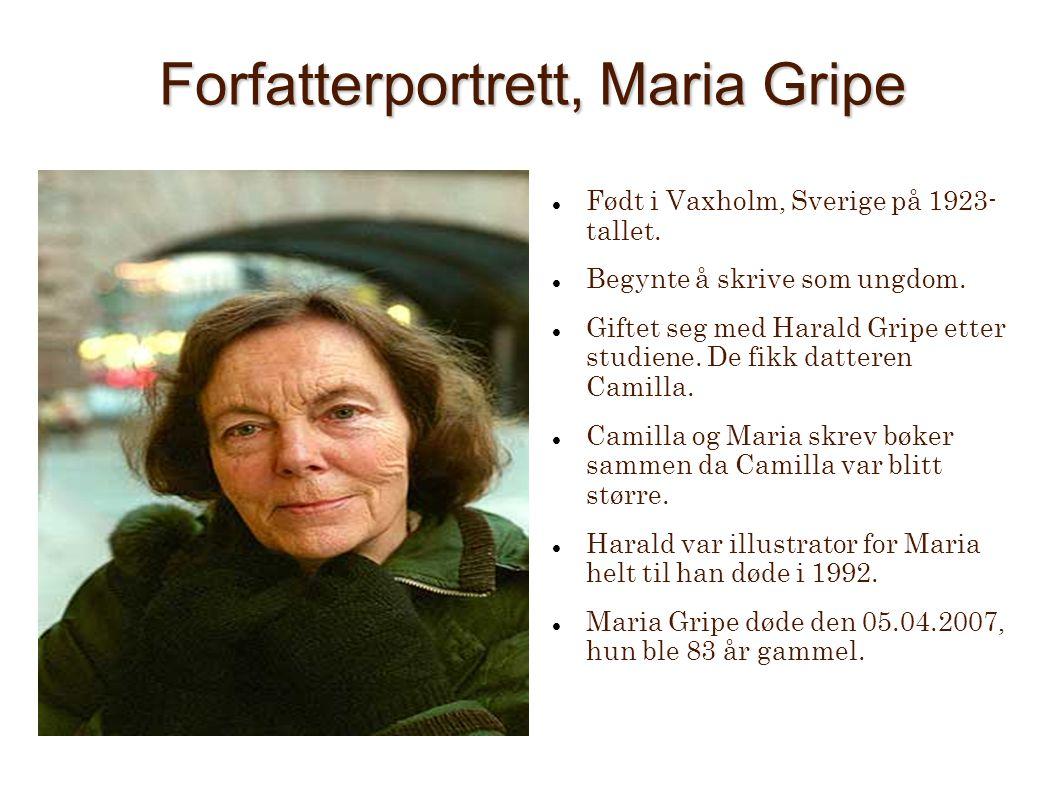 Forfatterportrett, Maria Gripe