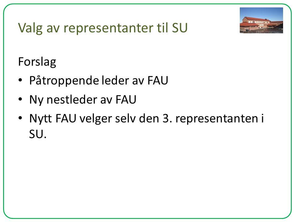 Valg av representanter til SU