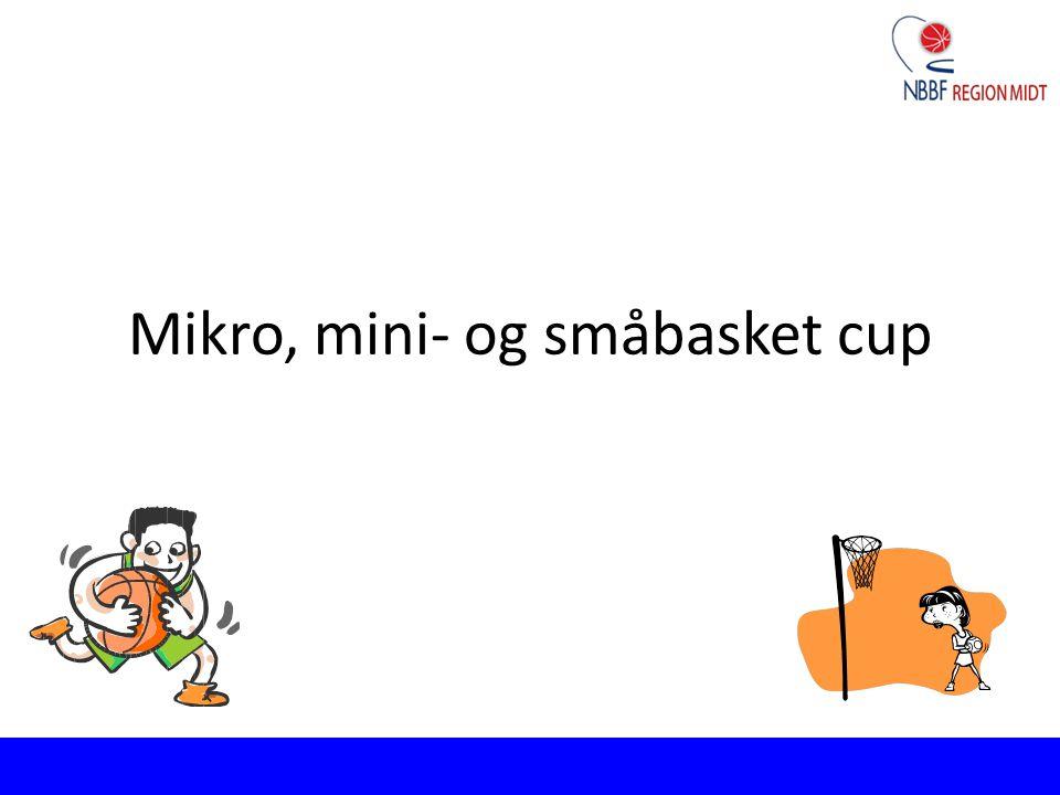 Mikro, mini- og småbasket cup