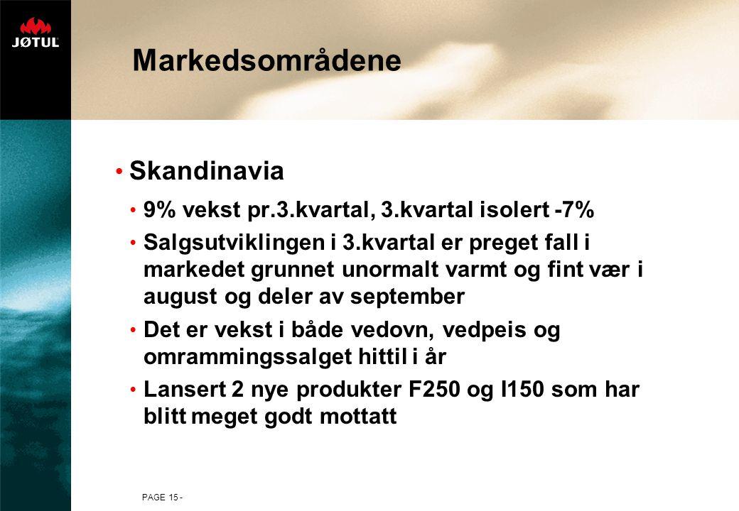 Markedsområdene Skandinavia