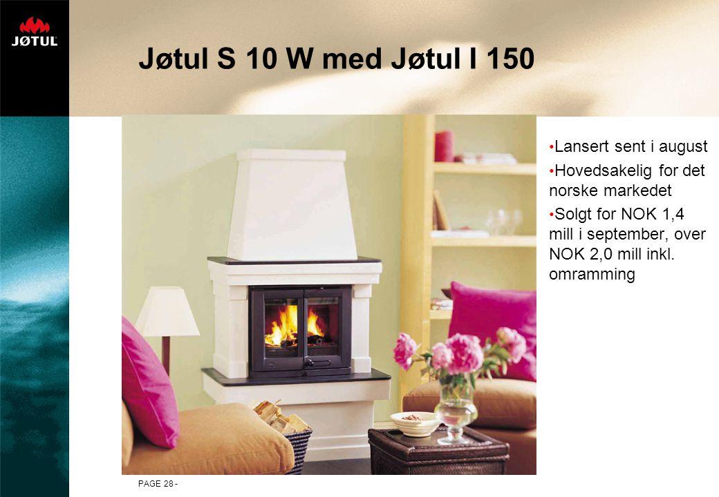 Jøtul S 10 W med Jøtul I 150 Lansert sent i august
