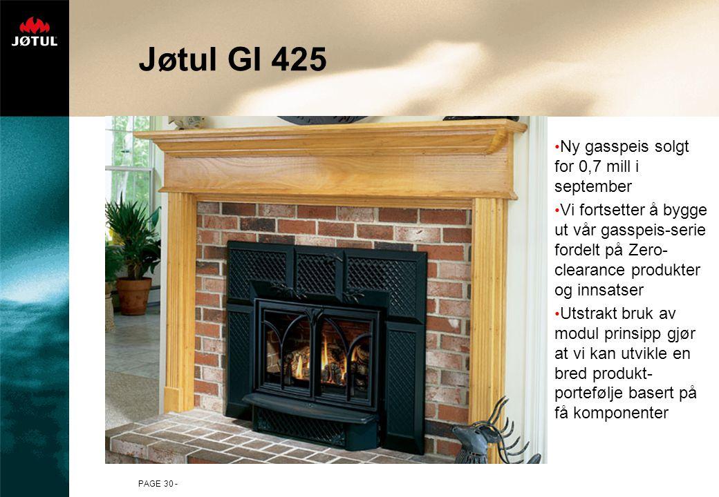 Jøtul GI 425 Ny gasspeis solgt for 0,7 mill i september