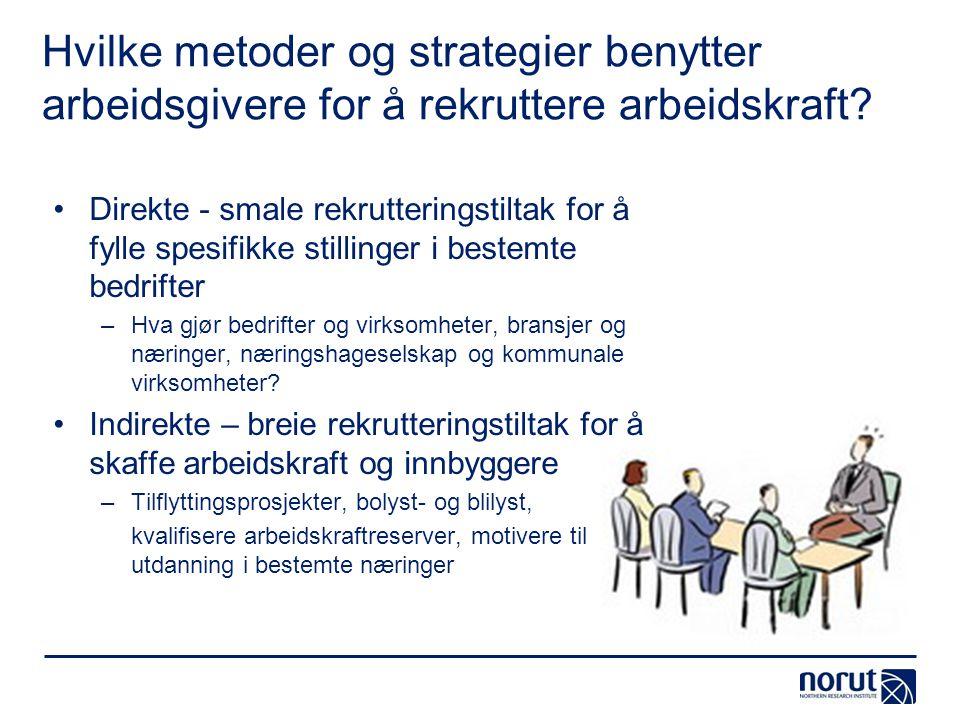 Hvilke metoder og strategier benytter arbeidsgivere for å rekruttere arbeidskraft