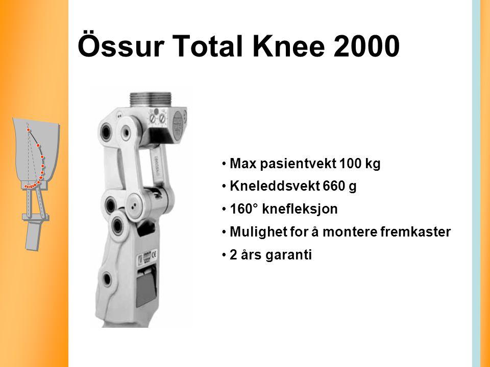 Össur Total Knee 2000 Max pasientvekt 100 kg Kneleddsvekt 660 g