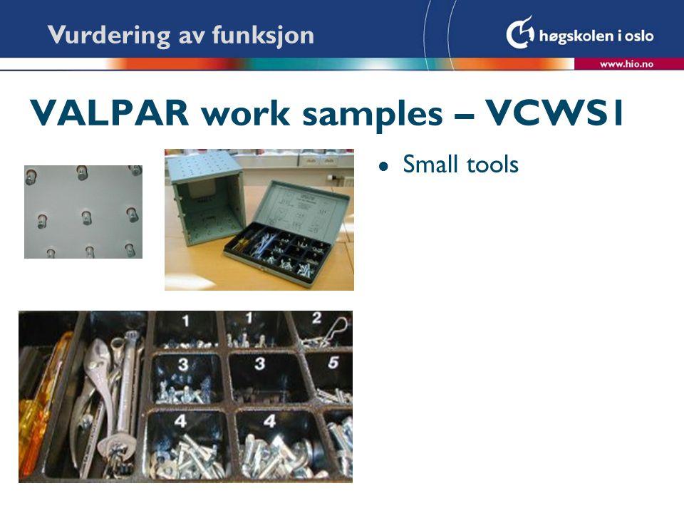 VALPAR work samples – VCWS1