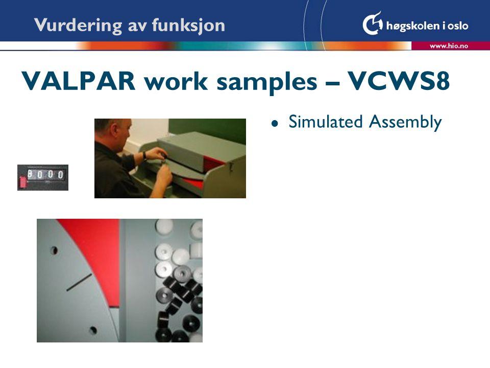 VALPAR work samples – VCWS8