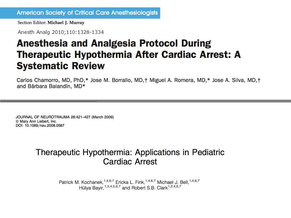 Anesth Analg 2010;110:1328-1334 Sedasjon ved terapeutisk hypotermi 2012